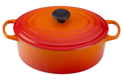 Le Creuset Signature Cast Iron Oval Ovens - Flame