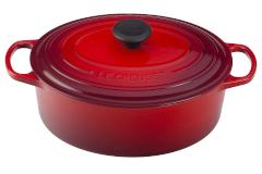 Le Creuset Signature Cast Iron Oval Ovens - Cerise