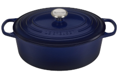 Le Creuset Signature Cast Iron 6.75 Quart Oval Oven - Indigo