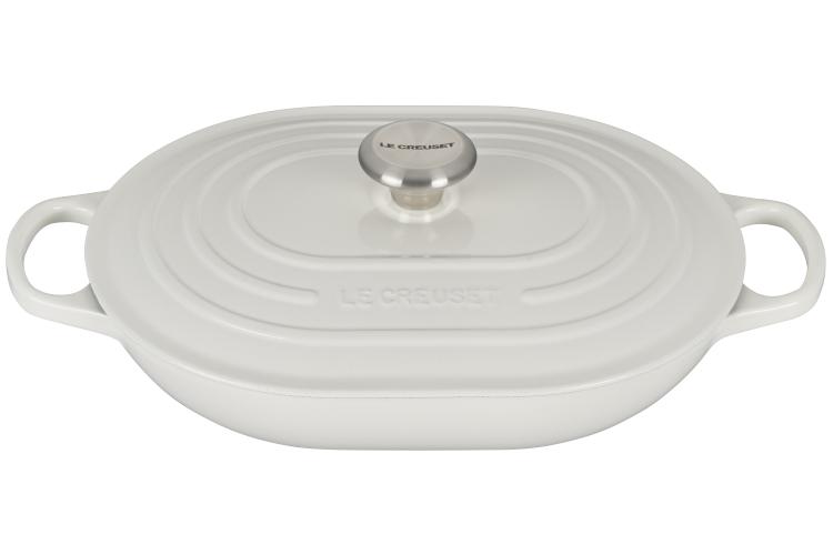 Le Creuset Signataure Cast Iron 3.75 Quart Oval Casserole - White
