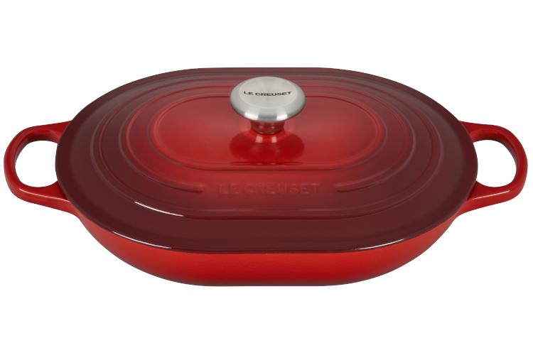 Le Creuset Signataure Cast Iron 3.75 Quart Oval Casserole - Cerise