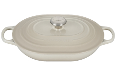 Le Creuset Signature Cast Iron 3.75 Quart Oval Casserole - Meringue