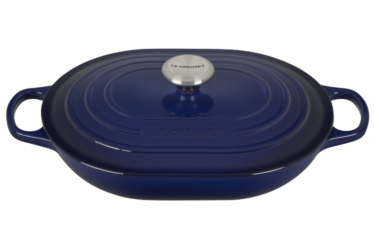Le Creuset Signataure Cast Iron 3.75 Quart Oval Casserole - Indigo