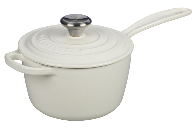 Le Creuset Signature Cast Iron Saucepans - White