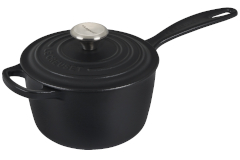 Le Creuset Signature Cast Iron 1.75 Quart Saucepan - Licorice