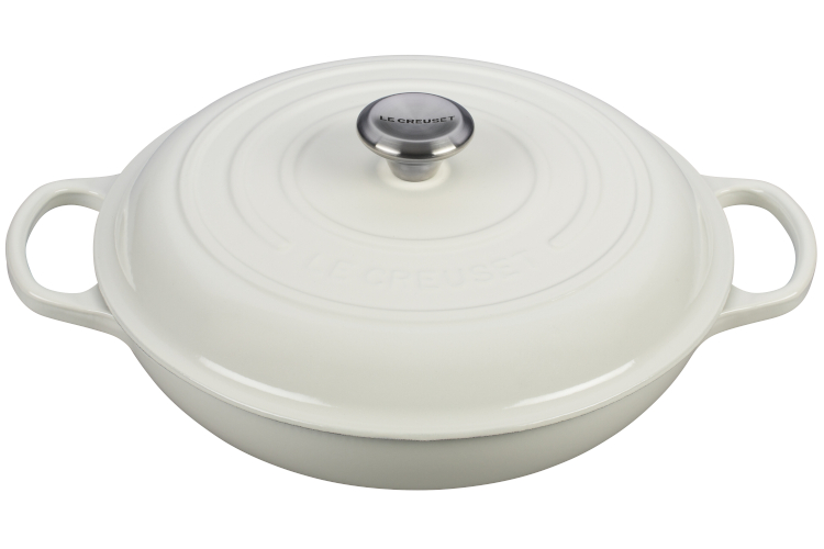 Le Creuset Signature Cast Iron Braisers - White