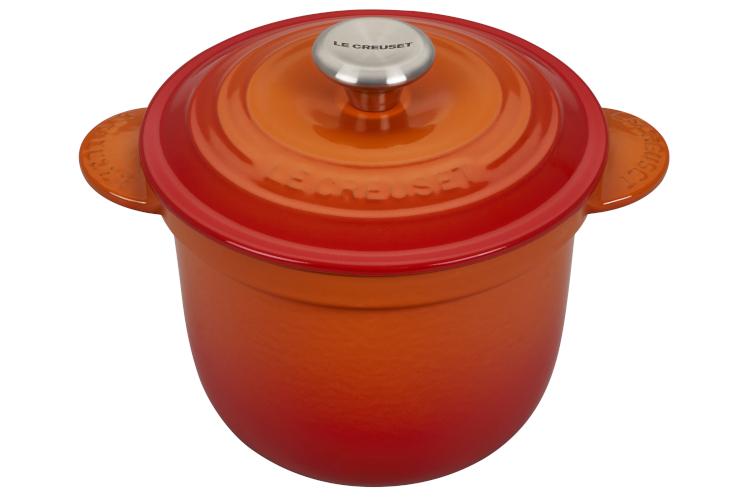Le Creuset Cast Iron 2.25 Quart Rice Pot & Stoneware Insert - Flame