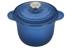 Le Creuset Cast Iron 2.25 Quart Rice Pot & Stoneware Insert - Marseille