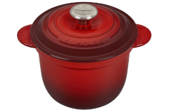 Le Creuset Cast Iron 2.25 Quart Rice Pot & Stoneware Insert - Cerise