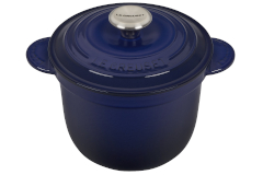 Le Creuset Cast Iron 2.25 Quart Rice Pot & Stoneware Insert - Indigo