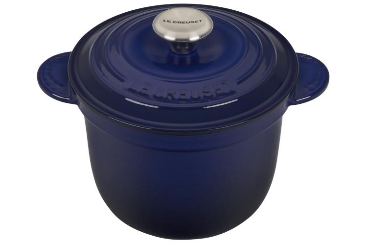 Le Creuset Cast Iron 2.25 Quart Rice Pot & Stoneware Insert - Indigo