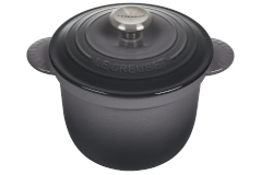 Le Creuset Cast Iron 2.25 Quart Rice Pot & Stoneware Insert - Oyster