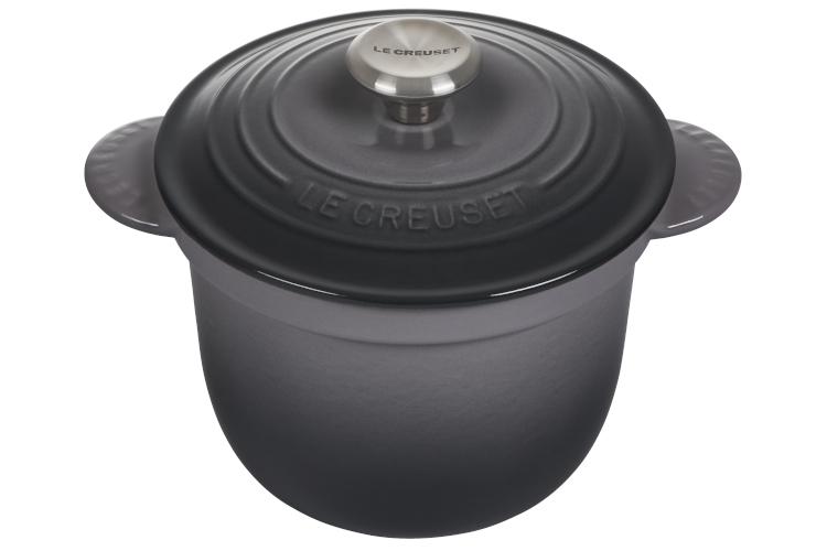 Le Creuset Cast Iron 2.25 Quart Rice Pot & Stoneware Insert - Oyster