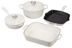 Le Creuset Signature Cast Iron 6-Piece Cookware Set - White
