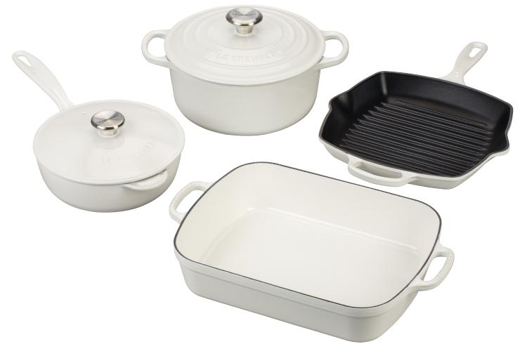 Le Creuset Signature Cast Iron 6-Piece Cookware Set - White