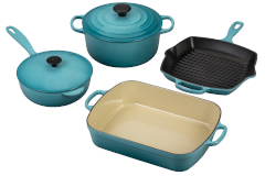Le Creuset Signature Cast Iron 6-Piece Cookware Set - Caribbean