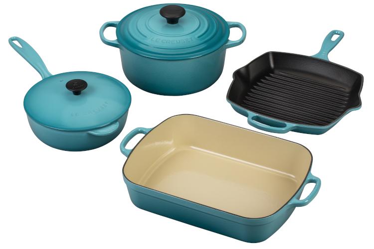 Le Creuset Signature Cast Iron 6-Piece Cookware Set - Caribbean