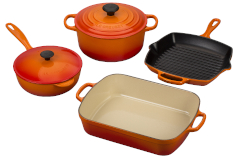 Le Creuset Signature Cast Iron 6-Piece Cookware Set - Flame