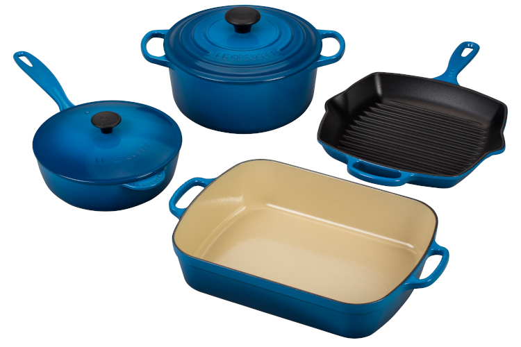 Le Creuset Signature Cast Iron 6-Piece Cookware Set - Marseille