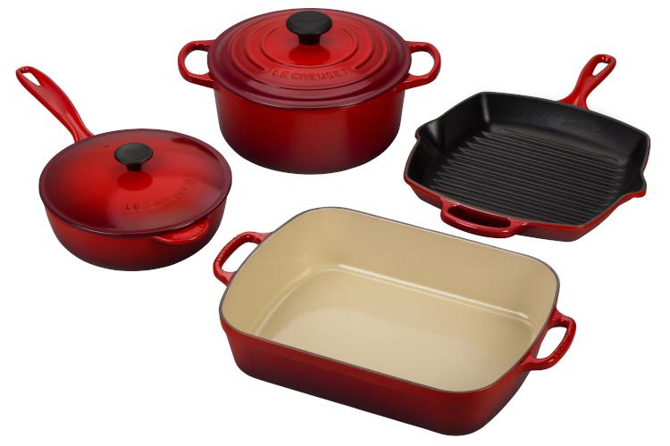Le Creuset Signature Cast Iron 6-Piece Cookware Set - Cerise