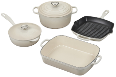 Le Creuset Signature Cast Iron 6-Piece Cookware Set - Meringue