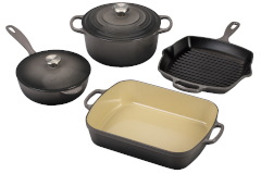 Le Creuset Signature Cast Iron 6-Piece Cookware Set - Oyster