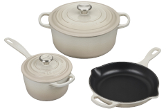 Le Creuset Signature Cast Iron 5-Piece Cookware Set - Meringue