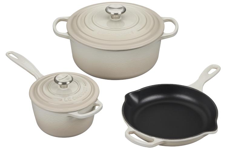Le Creuset Signature Cast Iron 5-Piece Cookware Set - Meringue