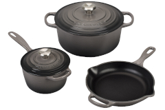 Le Creuset Signature Cast Iron 5-Piece Cookware Set - Oyster