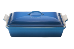 Le Creuset Stoneware Heritage 4 Quart Covered Rectangular Casserole - Marseille