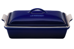 Le Creuset Stoneware Heritage 4 Quart Covered Rectangular Casserole - Indigo
