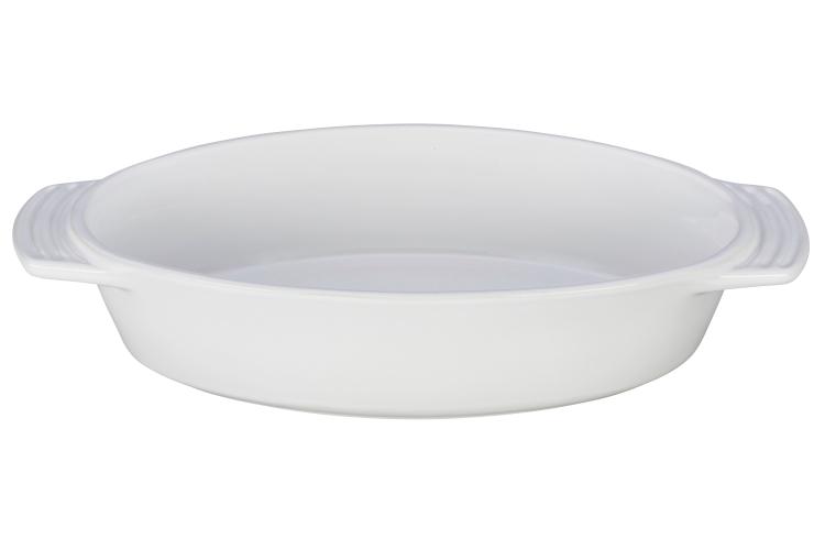 Le Creuset Stoneware 1 Quart  Oval Dish White