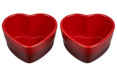 Le Creuset Stoneware Heart Ramekins, Set of 2