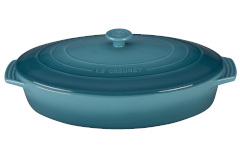 Le Creuset Stoneware 3.75 Covered Oval Casserole - Caribbean