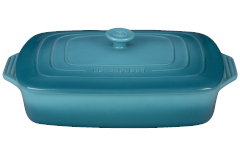 Le Creuset Stoneware 3.5 Quart Covered Rectangular Casserole - Caribbean