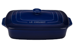 Le Creuset Stoneware 3.5 Quart Covered Rectangular Casserole - Indigo