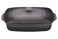 Le Creuset Stoneware 3.5 Quart Covered Rectangular Casserole - Oyster