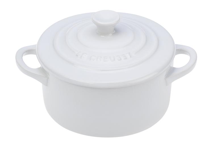 Le Creuset Stoneware Mini Round Cocotte - White
