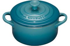 Le Creuset Stoneware Mini Round Cocotte - Caribbean