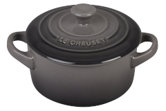 Le Creuset Stoneware Mini Round Cocotte - Oyster
