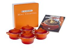 Le Creuset Stonware Mini-Cocotte Set with Cookbook - Flame