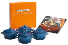 Le Creuset Stonware Mini-Cocotte Set with Cookbook - Marseille