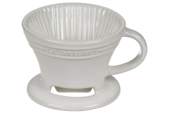 Le Creuset Stoneware Pour Over Coffee Cone - White