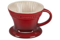 Le Creuset Stoneware Pour Over Coffee Cone - Cerise