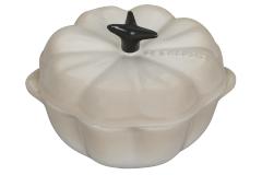 Le Creuset Stoneware Petite Pumpkin Cocotte - Meringue