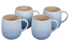 Le Creuset Stoneware Set of 4 Heritage Mugs - Coastal Blue
