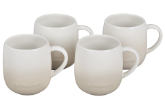 Le Creuset Stoneware Set of 4 Heritage Mugs - Meringue
