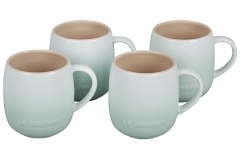 Le Creuset Stoneware Set of 4 Heritage Mugs - Ice Green