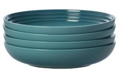 "Le Creuset Stoneware Set of (4) 9.75"" Pasta Bowls - Caribbean"