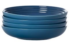 """Le Creuset Stoneware Set of (4) 9.75"""" Pasta Bowls - Marseille"""